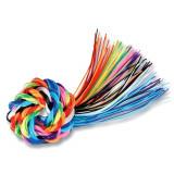 96 fils a torsader, long. 80 cm, multicolore, scoubidou