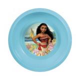 Assiette plastique creuse Vaiana bleu repas enfant