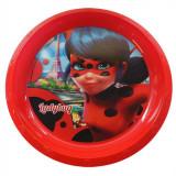 Assiette plastique plate Miraculous Lady Bug