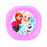 Assiette plate La Reine des Neiges enfant plastique violet