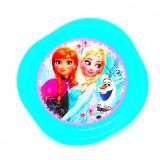 Assiette plate La Reine des Neiges enfant plastique bleu