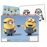 Cahier de dessin, livre de coloriage A4 + Stickers Les Minions