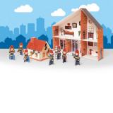 Caserne de pompier en carton, a construire maison