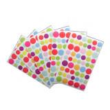 324 gommette stickers rond multicolore