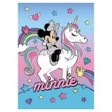Plaid polaire Minnie Licorne Couverture enfant