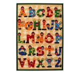 Tapis enfant Lettre de l'Alphabet 140 x 100 cm lettres