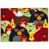 Tapis enfant Angry Birds 133 x 95 cm groupe