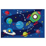 Tapis Espace 80 x 120 cm fusee etoile planete space  enfant