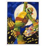 Tapis enfant Les Tortues Ninja 133 x 95 cm Disney Mike Skate