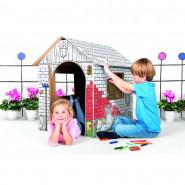 Maison en carton, a construire dessiner peindre colorier
