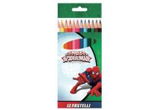 12 crayon de couleur Spiderman Disney enfant ecole