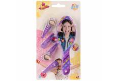 Brosse + 4 barrette Disney Soy Luna violet barette
