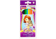 12 crayon de couleur Princesse Sofia Disney