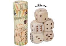 5 dés en bois XL jeu jouet dé