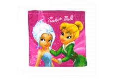 1 serviette Disney, Fée Clochette essuie main 30x30cm coton ecole
