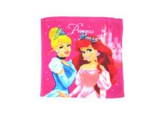 1 serviette Disney, Princesse essuie main 30x30cm coton ecole
