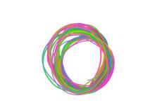 12 fils a torsader, long. 100 cm, multicolore, scoubidou