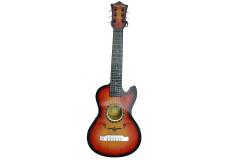 Guitare acoustique folk 60 cm, 6 cordes métalliques, enfant jouet