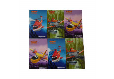 450 stickers Planes, 6 mini carnet Disney enfant