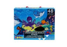 Puzzle 48 pieces poisson pieuvre tortue mer piece XL 60 x 90 cm Geant