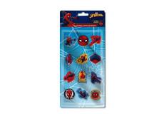 12 gomme Spiderman enfant ecole Marvel lot