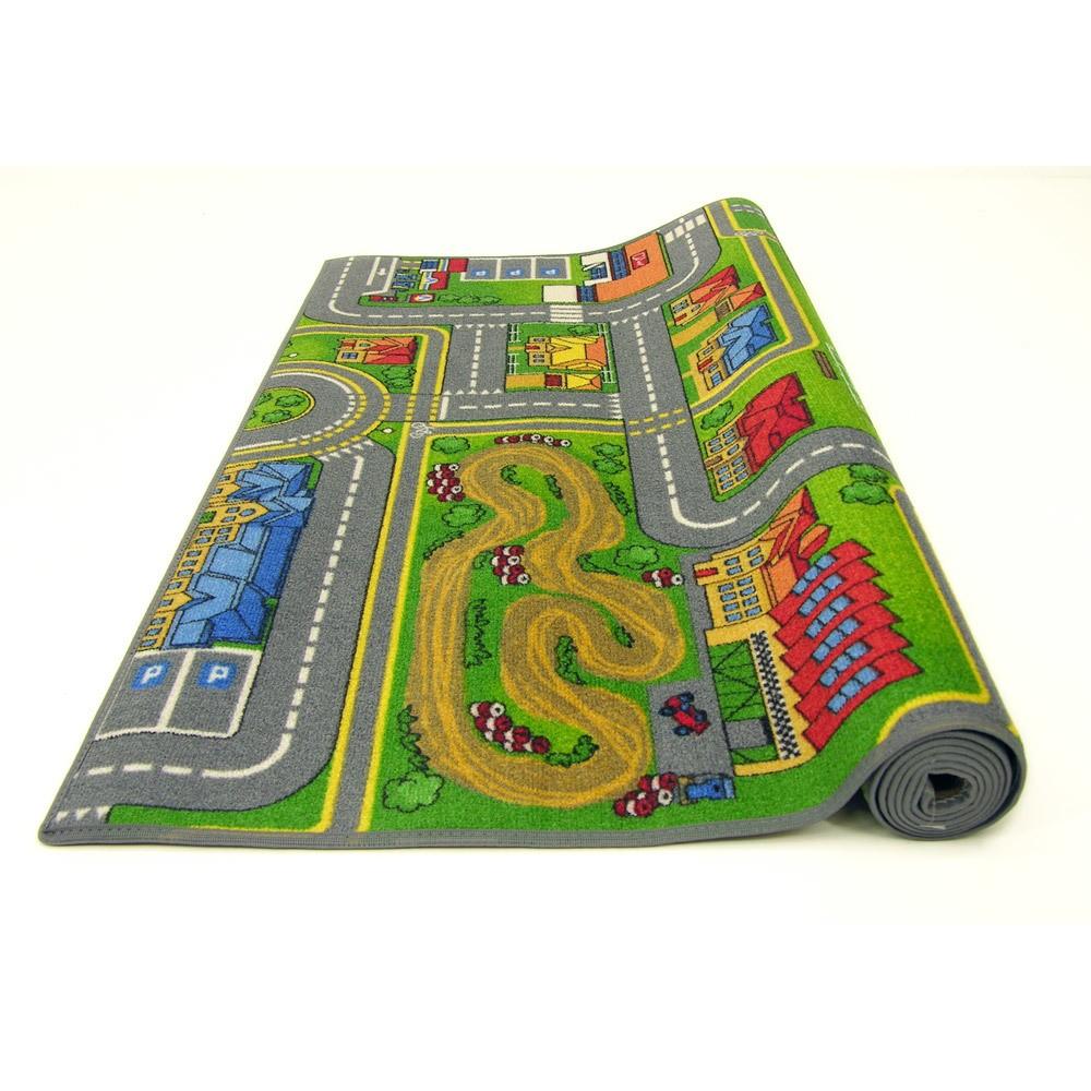 grand tapis de route 140 x 200 cm circuit enfant ebay. Black Bedroom Furniture Sets. Home Design Ideas